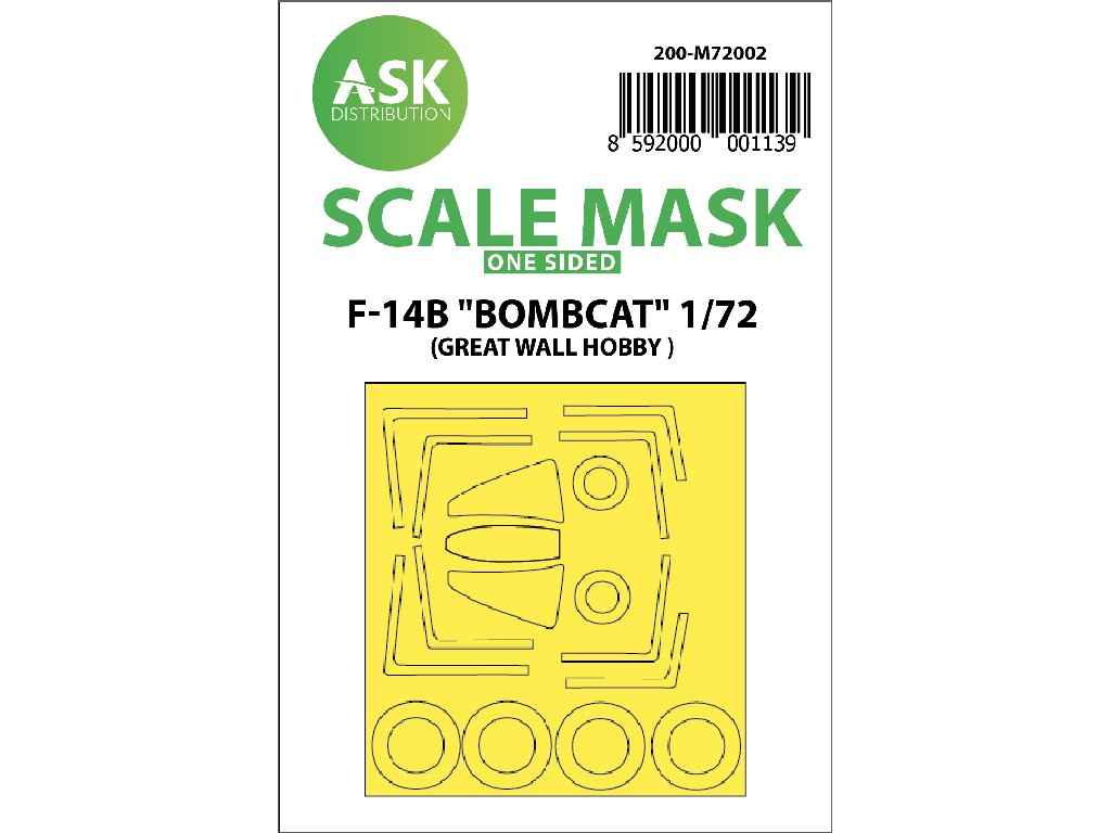 1/72 F-14B Bombcat one sided paint mask for Great Wall Hobby