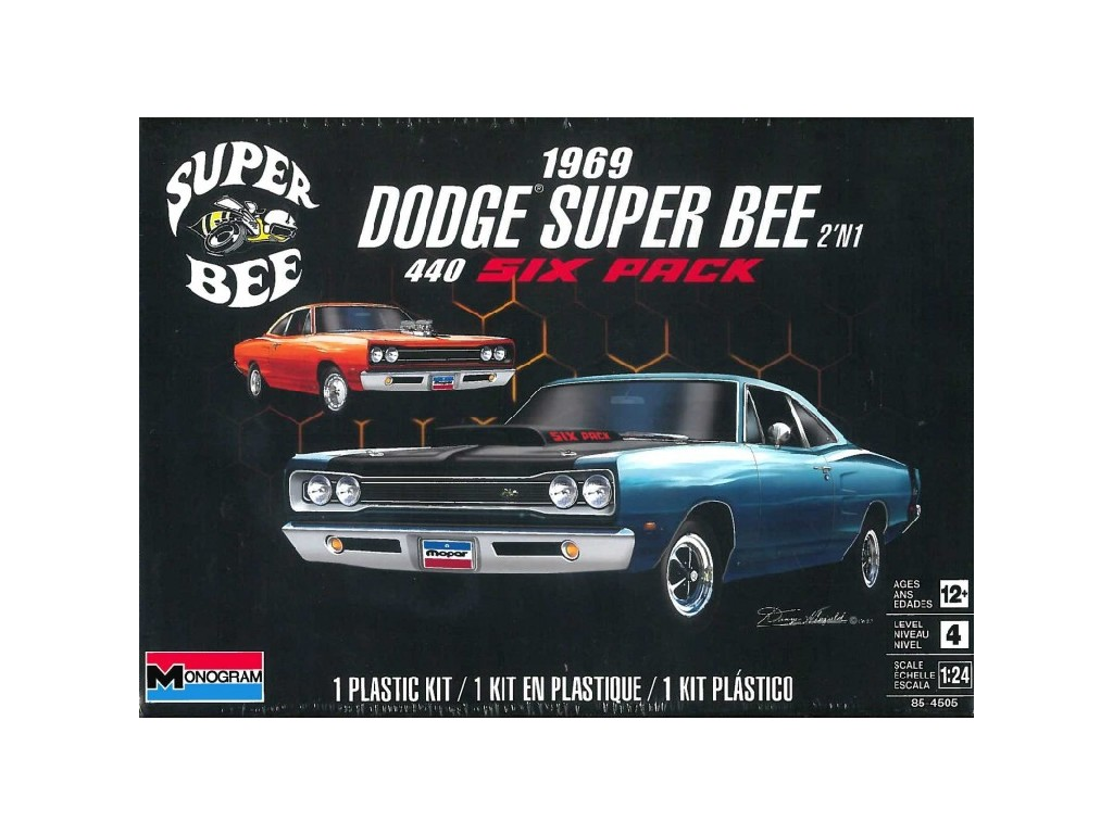 1/24 Dodge Super Bee 1969 - Monogram
