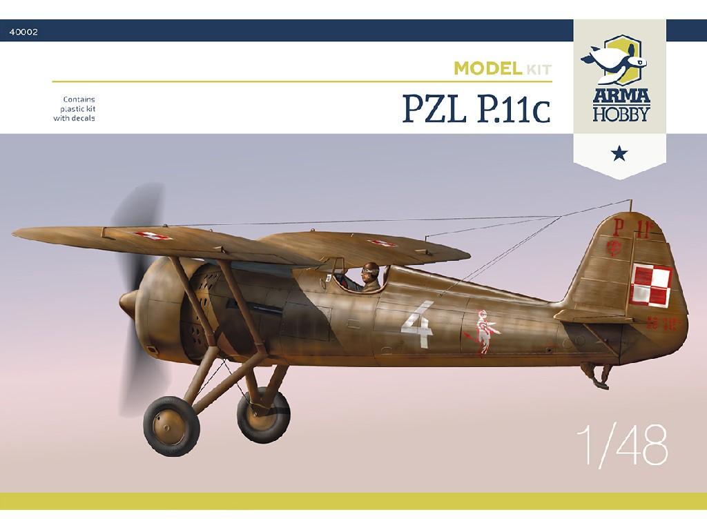 1/48 PZL P.11c Model Kit - Arma Hobby