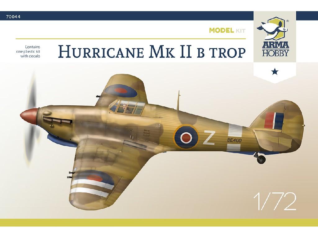 1/72 Hurricane Mk IIb Trop Model Kit - Arma Hobby