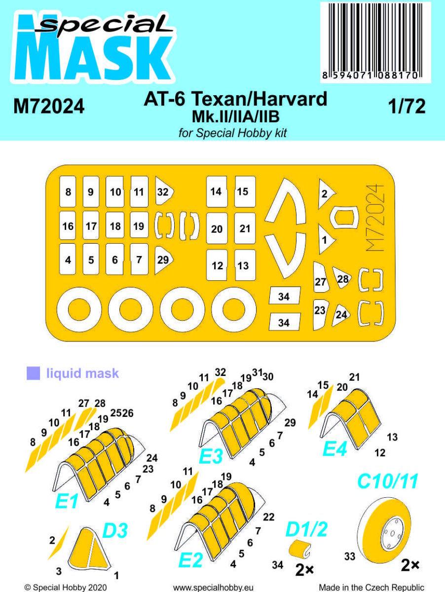 1/72 AT-6 Texan/Harvard Mk.II/IIA/IIB Mask