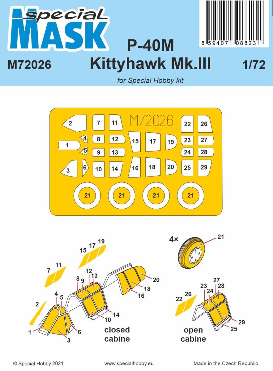 1/72 P-40M Warhawk/Kittyhawk Mk.III MASK