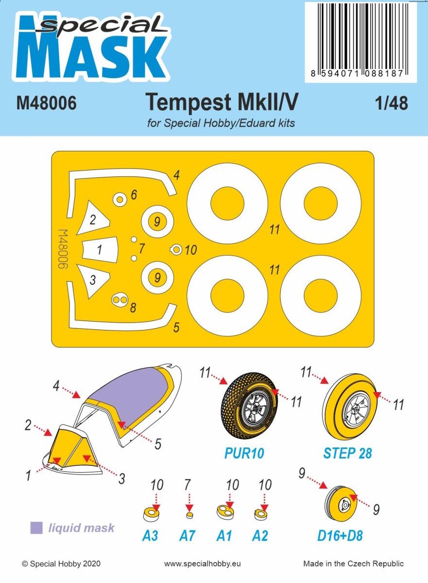 1/48 Tempest Mk.II/V Mask