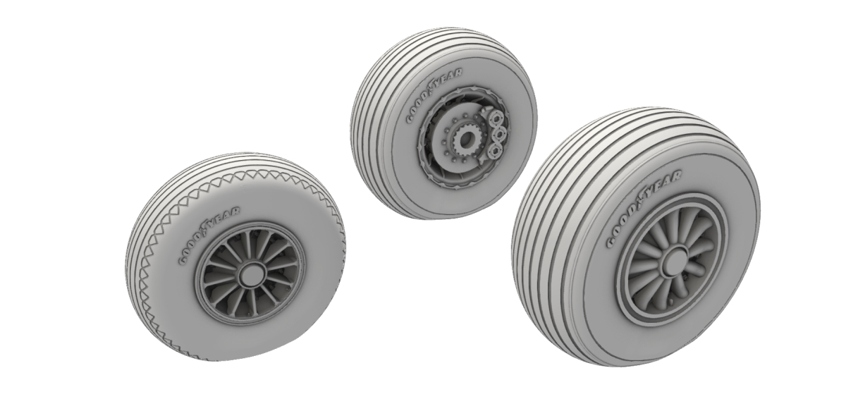 1/32 A-26 Invader Wheels Late Type