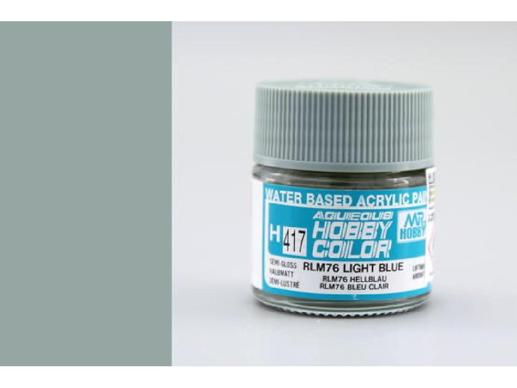 Mr. Hobby - Aqueous - H417 - RLM76 Light Blue - Světle modrá 10ml