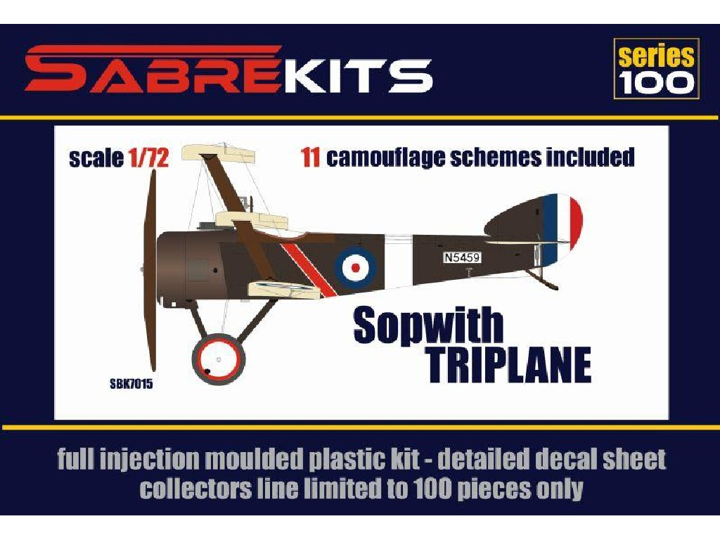 1/72 Sopwith Triplane Super decal set (11 variants) - Sabre Kits