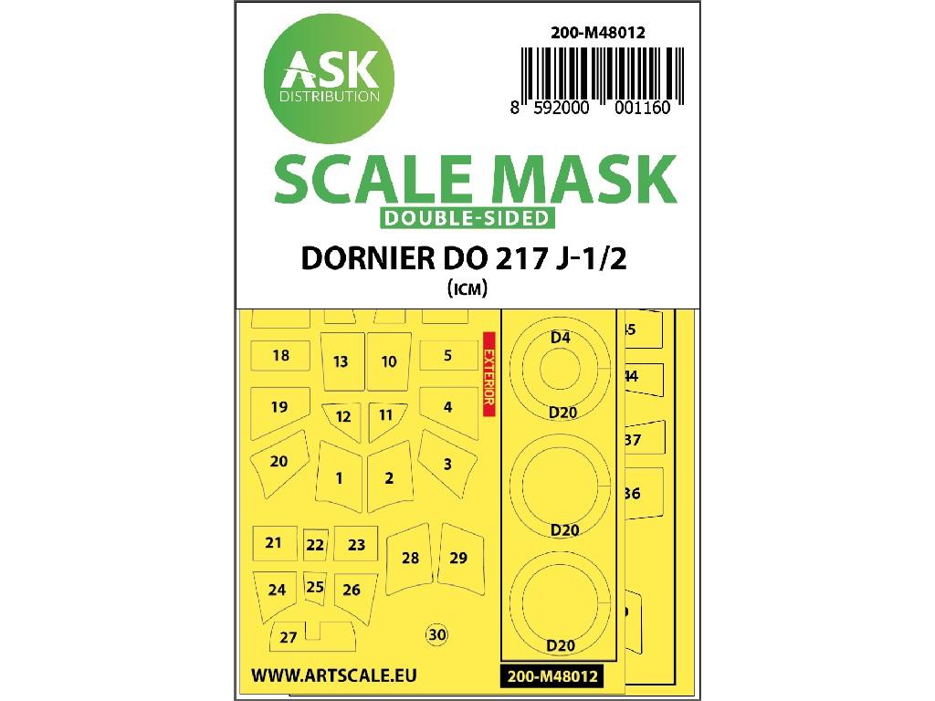 Art Scale - M48012 - Dornier Do 217J-1/2 oboustranná maska na ICM 1:48