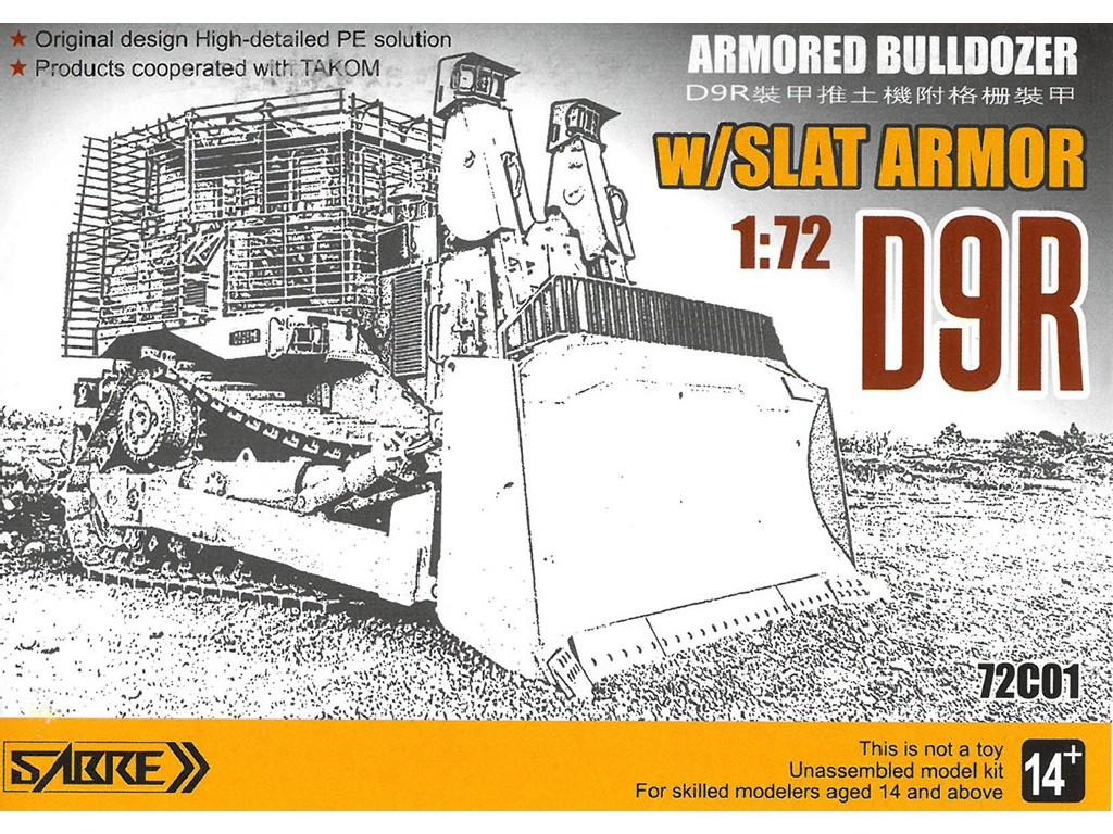 Sabre Model - 72C01 - D9R Armoured Bulldozer w/Slat Armour 1:72