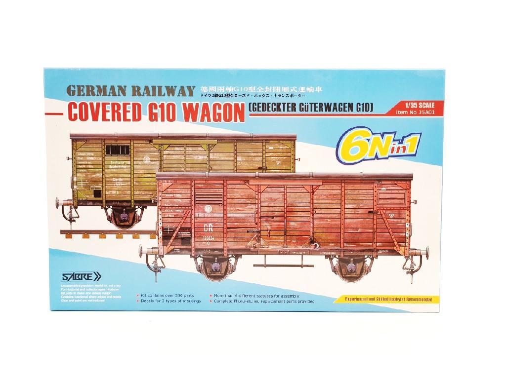 1/35 German Railway covered G10 wagon (6 in 1)