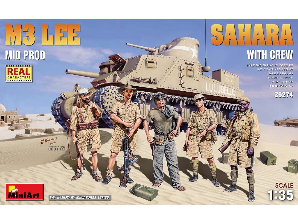 1/35 M3 Lee Mid Prod. Sahara w/Crew - Miniart