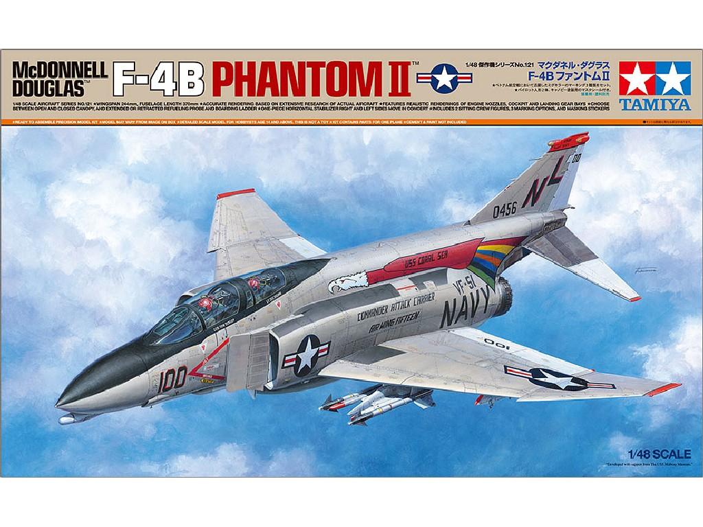 Tamiya - 61121 - McDonnell Douglas F-4B Phantom II - Tamiya 1:48