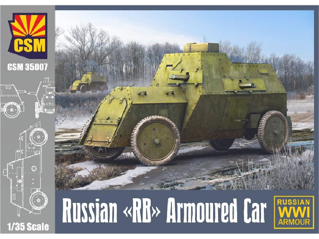 1/35 Russian RB Armoured Car (RB stands for Russo-Balt)