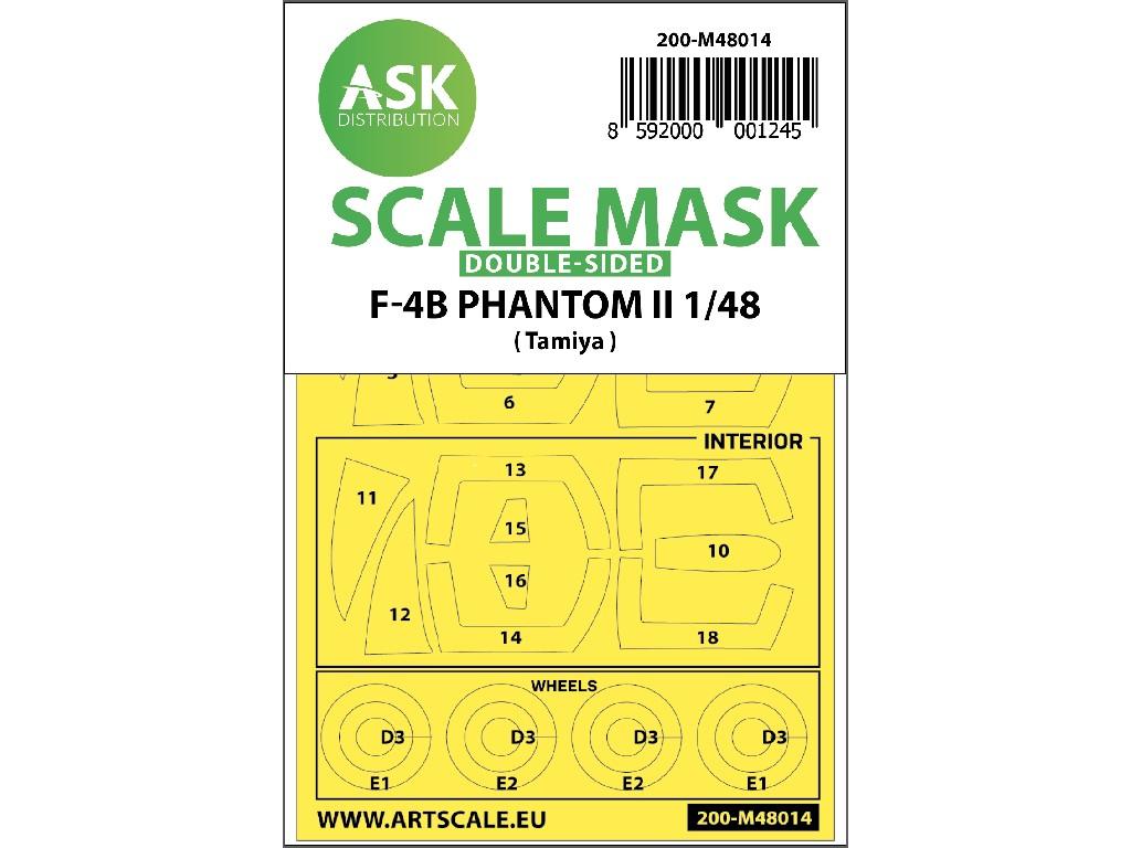 Art Scale - M48014 - F-4B Phantom double-sided painting mask for Tamiya 1:48