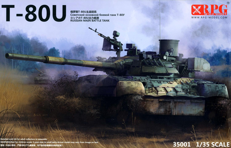 1/35 T-80U Russian Main Battle Tank - RPG