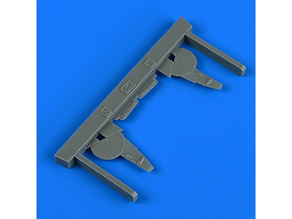Aires - QB72660 - La-5 undercarriage covers for CLEAR PROP kit 1:72