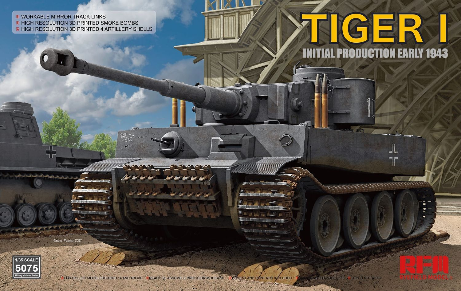 Rye Field Model - 5075 - Tiger I Initial Production Early 1943 1:35
