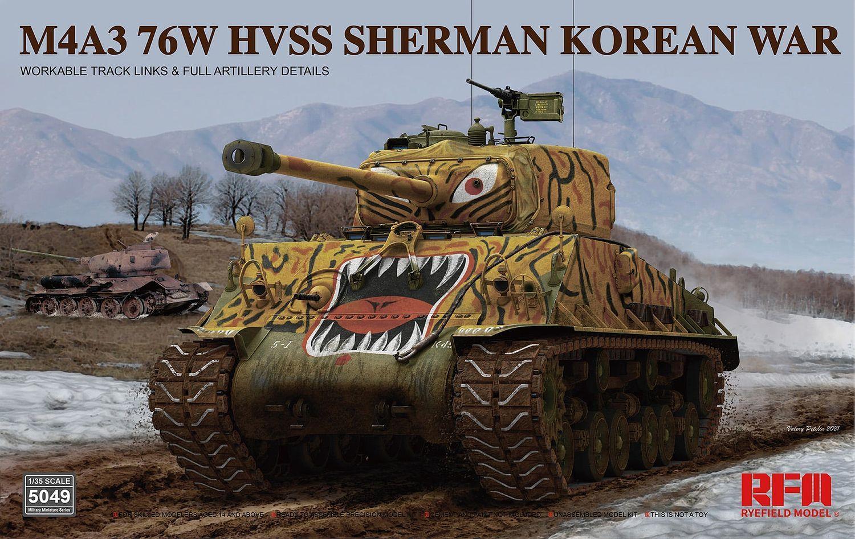 Rye Field Model - 5049 - M4A3 76W HVSS Sherman Korean War 1:35