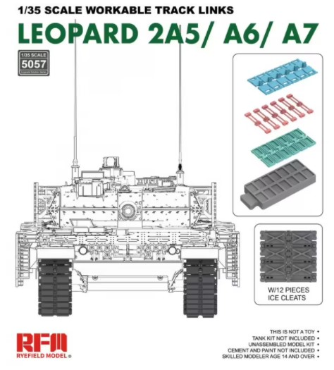 1/35 Workable track links for LEOPARD 2A5/A6/A7 - RFM