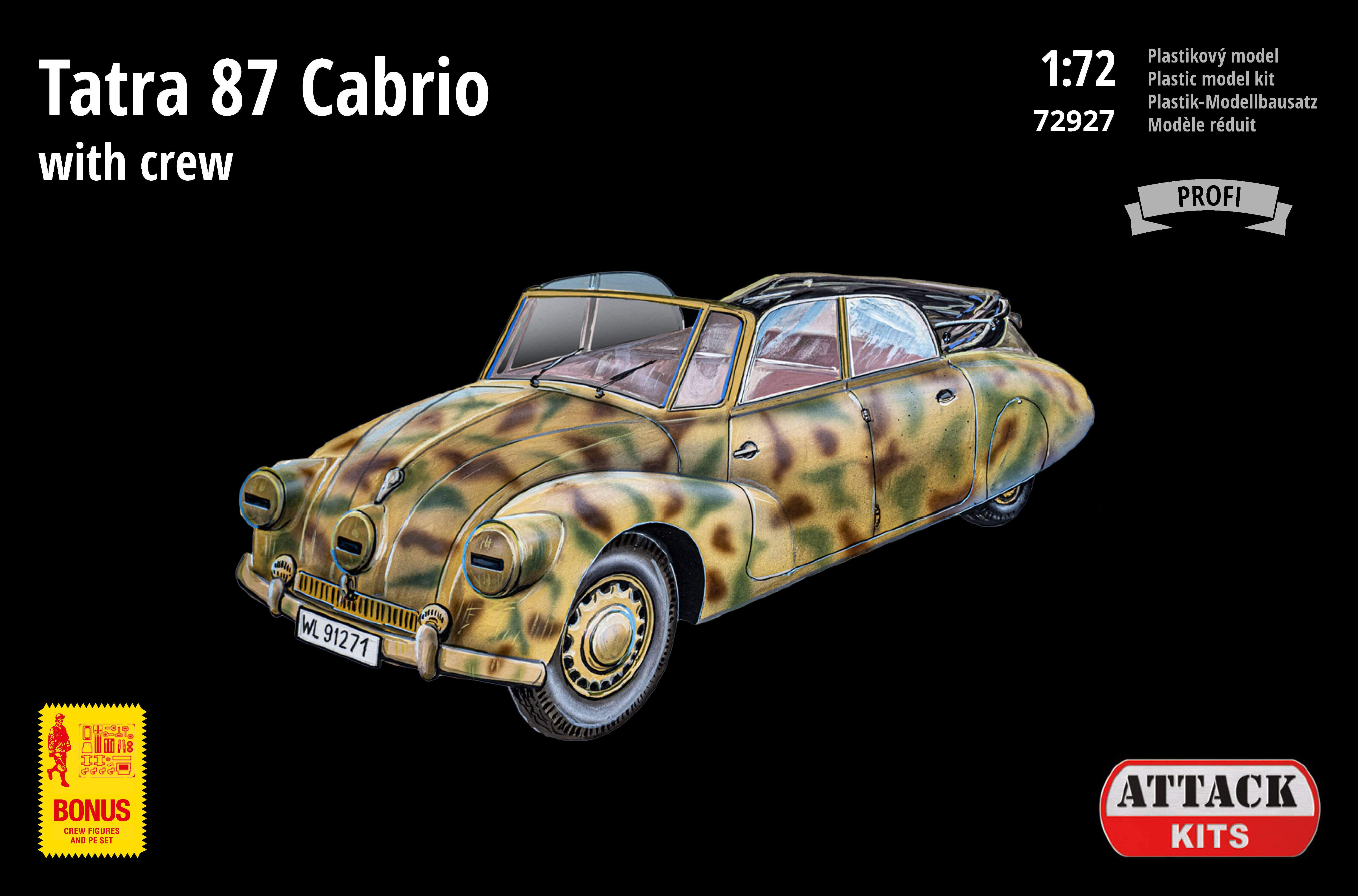 Attack Kits - 72927 - Tatra 87 Cabrio with crew 1:72