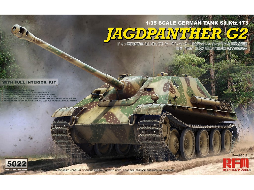 1/35 Jagdpanther G2 w/full interior +workable track links - RFM