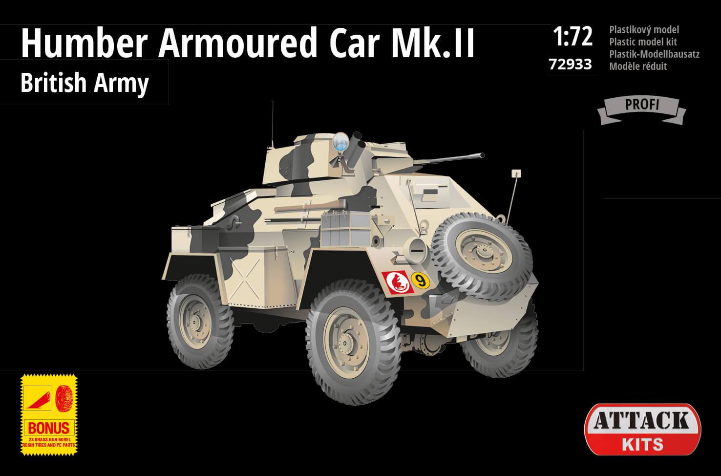 Attack Kits - 72933 - Humber Armoured Car Mk.II – British Army Africa 1:72
