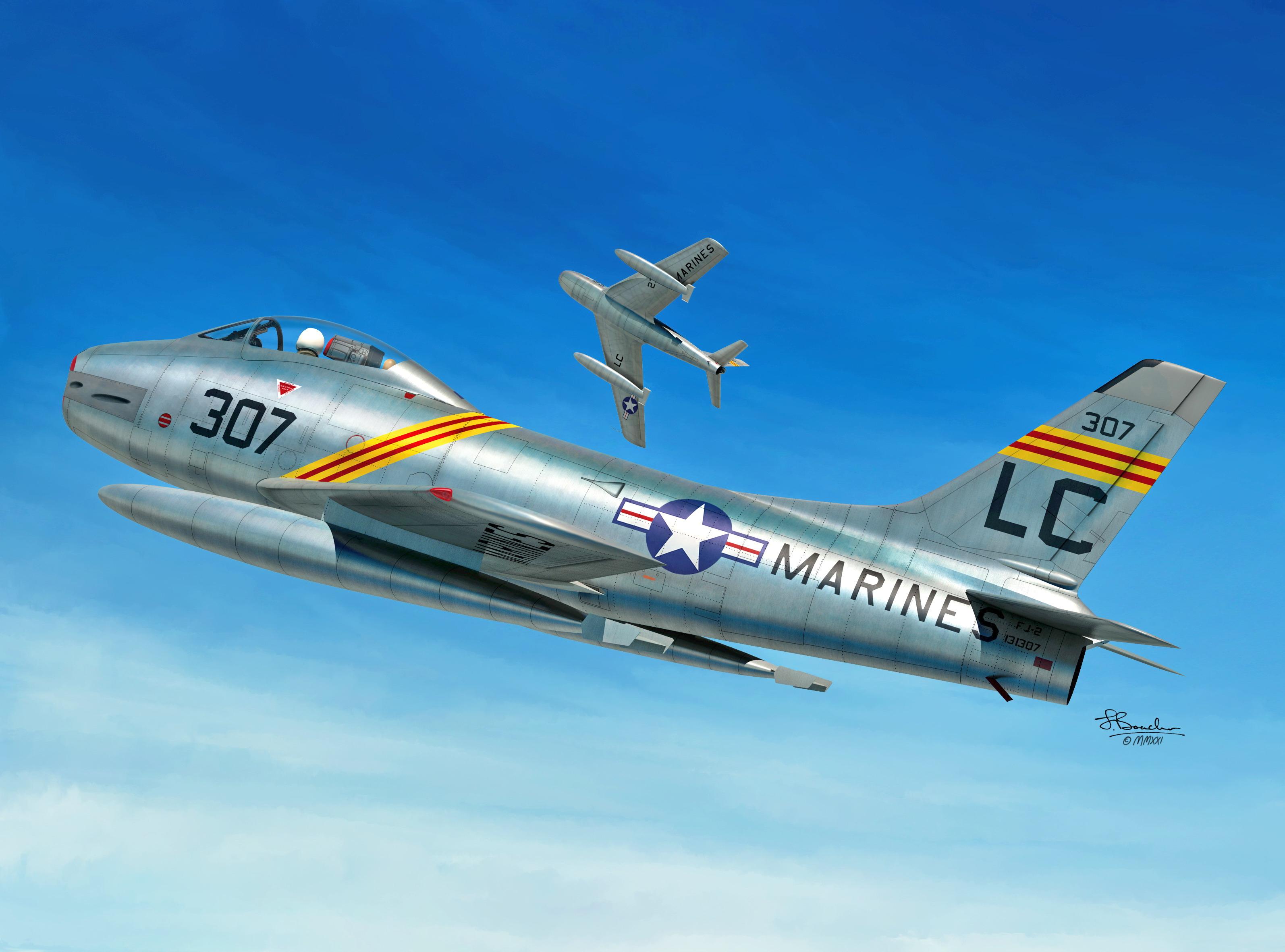 1/72 FJ-2 Fury U.S. Navy and Marines - Sword models