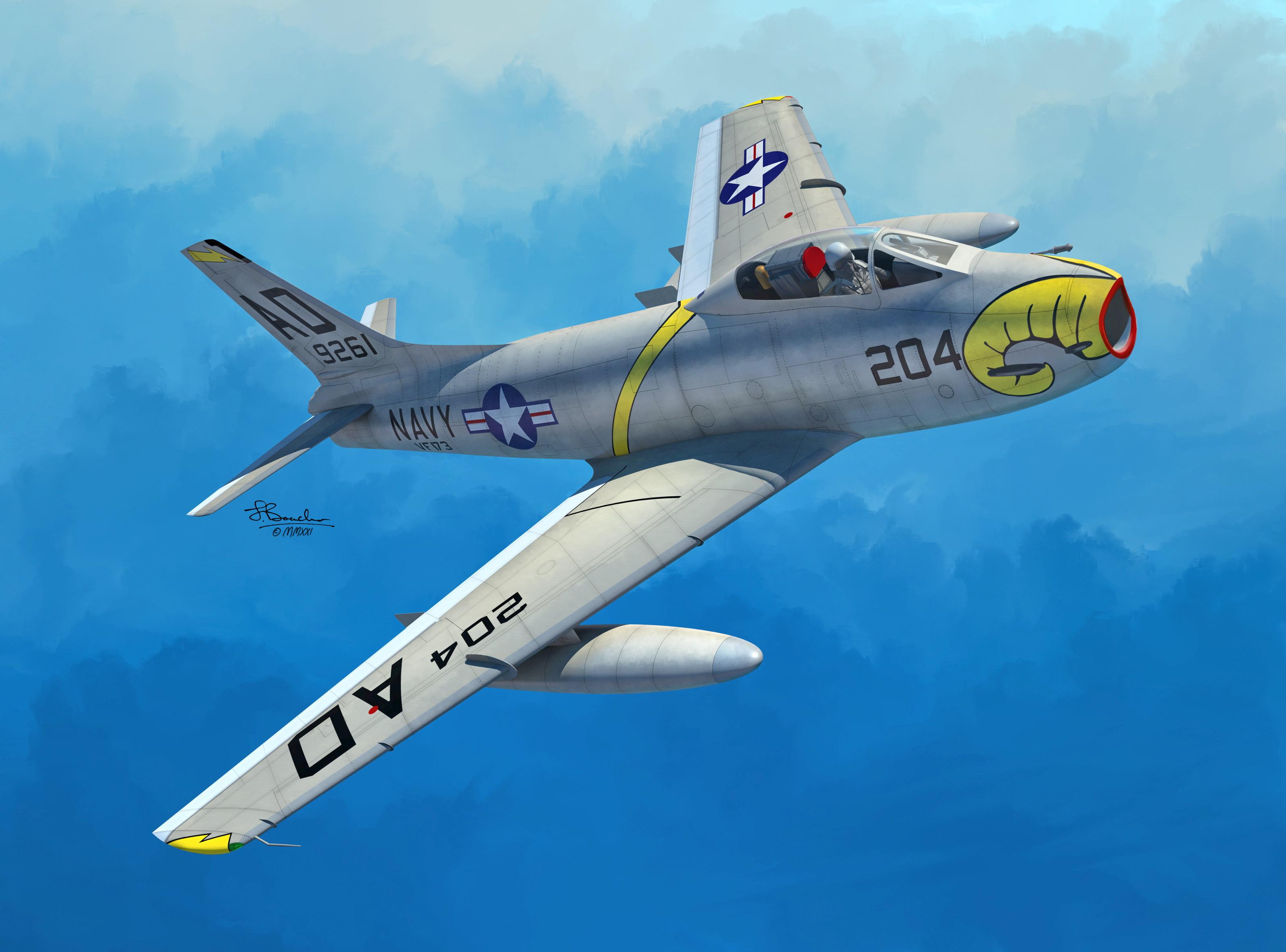 1/72 FJ-3/3M Fury U.S.Navy - Sword models