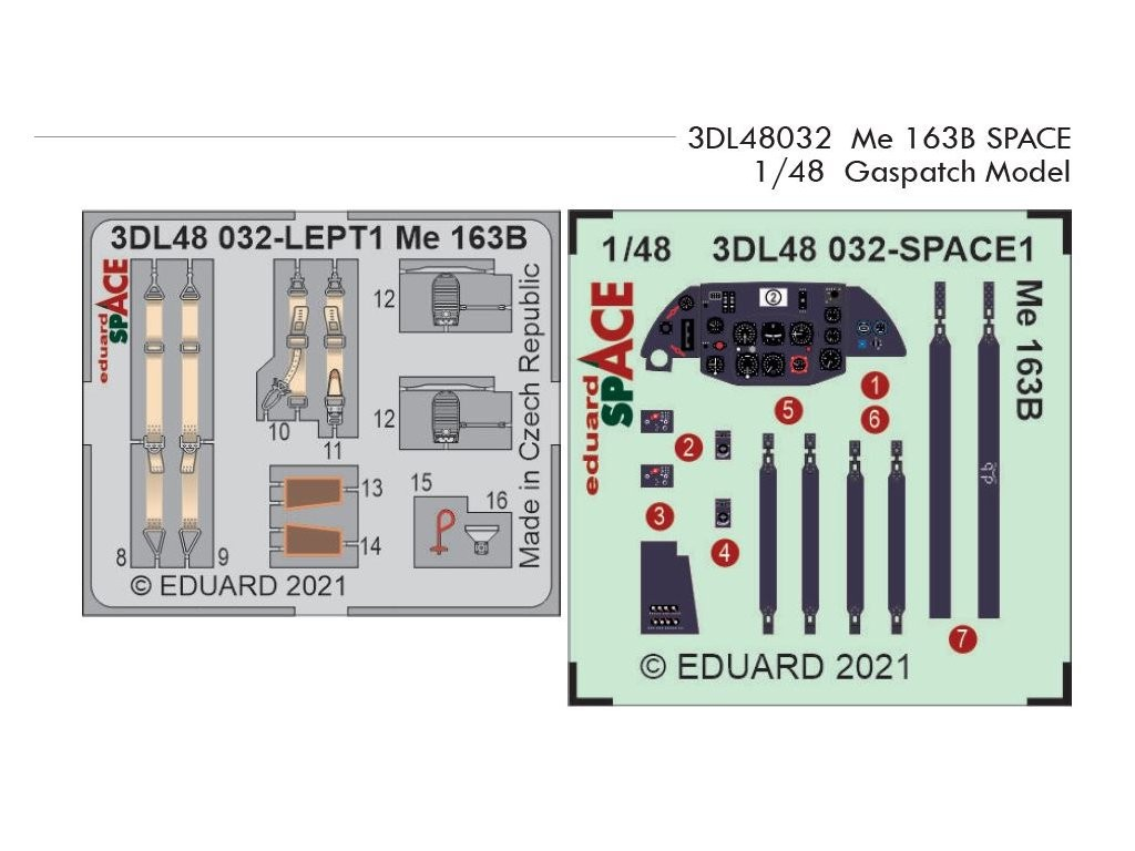 1/48 Me 163B SPACE for GASPATCH MODELS kit