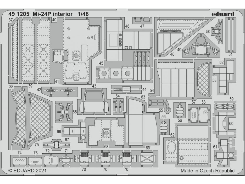 1/48 Mi-24P interior for ZVEZDA kit