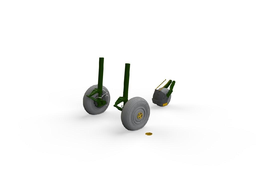 1/48 Su-27 wheels for GREAT WALL HOBBY kit