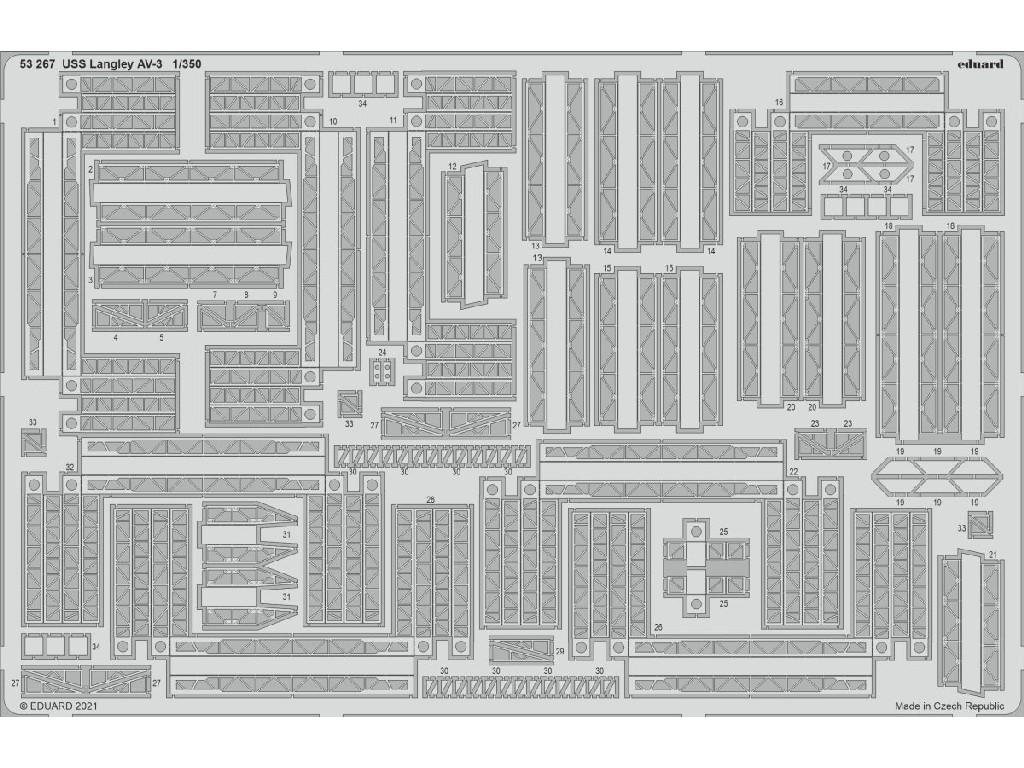 1/350 USS Langley AV-3 for TRUMPETER kit