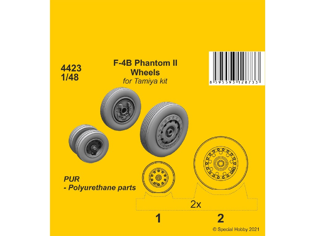 1/48 F-4B Phantom Wheels (from Tamiya kit)