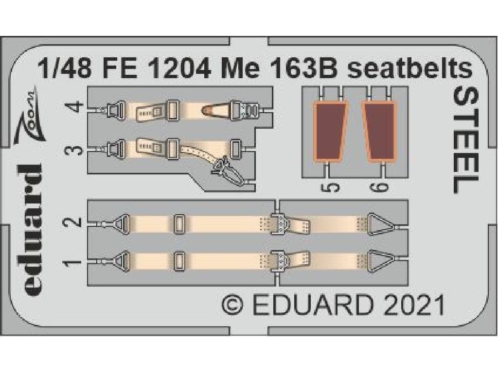 1/48 Me 163B seatbelts STEEL for GASPATCH MODELS kit