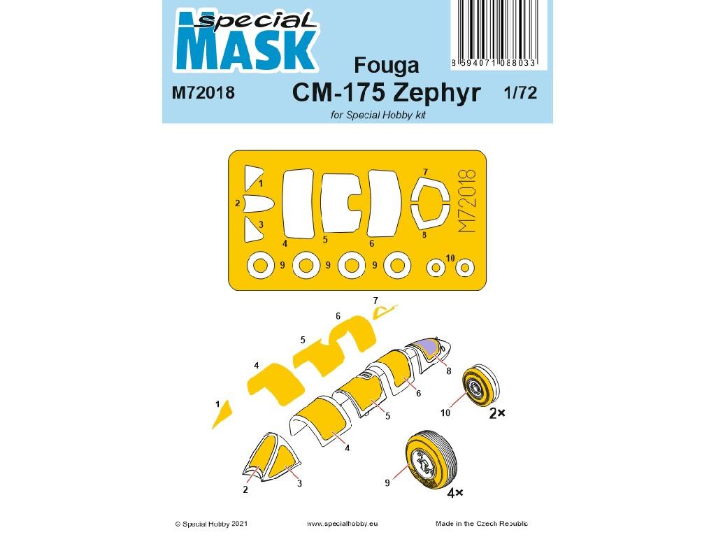 1/72 Fouga CM-175 Zephyr  Mask