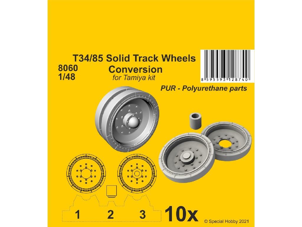 1/48 T34/85 Solid Track Wheels Conversion Set