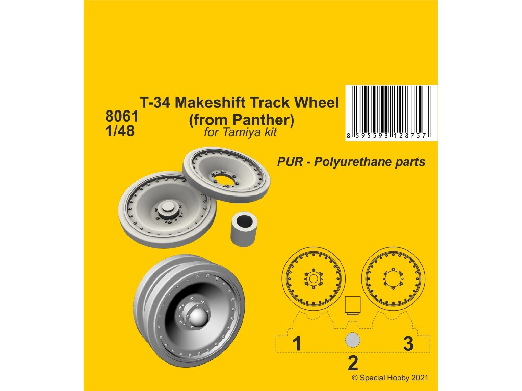 1/48 T-34 Makeshift Track Wheel (from Panther)