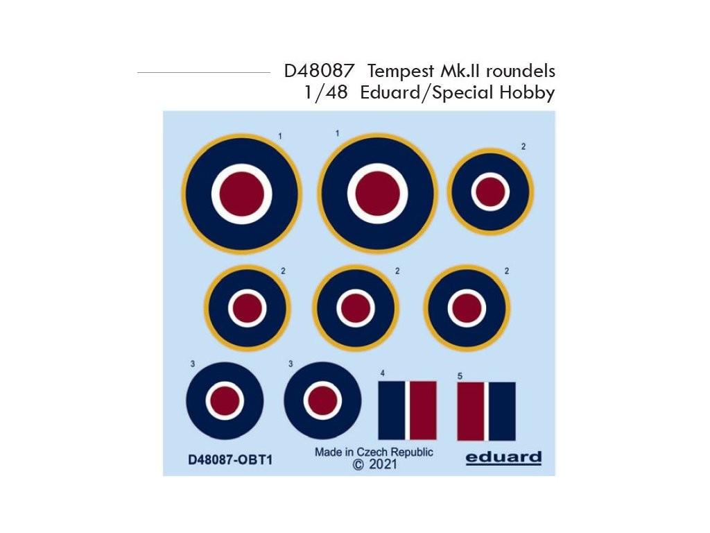 1/48 Tempest Mk.II roundels for EDUARD/SPECIAL HOBBY kit