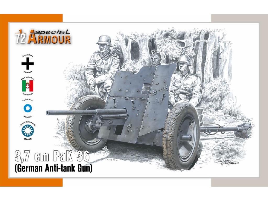1/72 3,7 cm PaK 36 'German Anti-tank Gun'