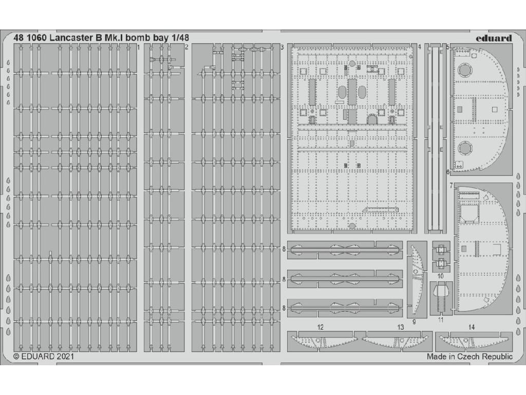 1/48 Lancaster B Mk.I bomb bay for HKM kit