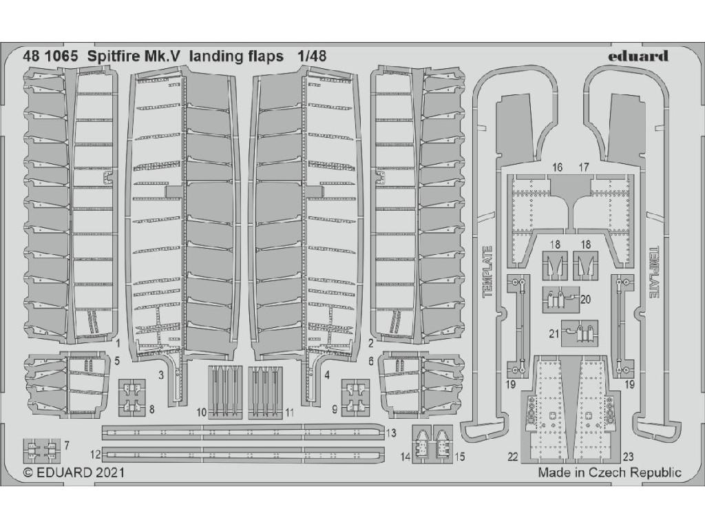 1/48 Spitfire Mk.V landing flaps for EDUARD kit