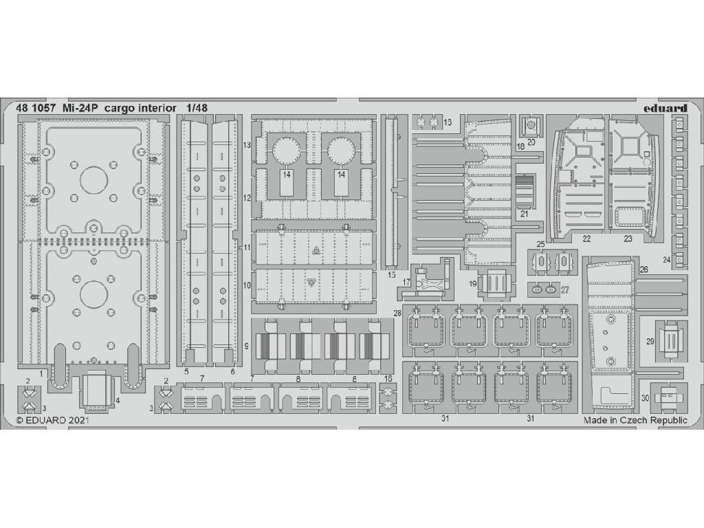 1/48 Mi-24P cargo interior for ZVEZDA kit