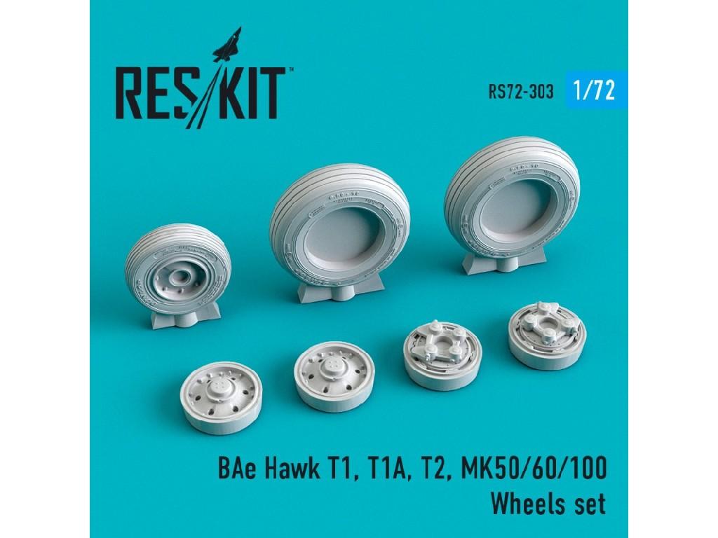 1/72 BAe Hawk T1, T1A, T2, MK50/60/100 Wheels set