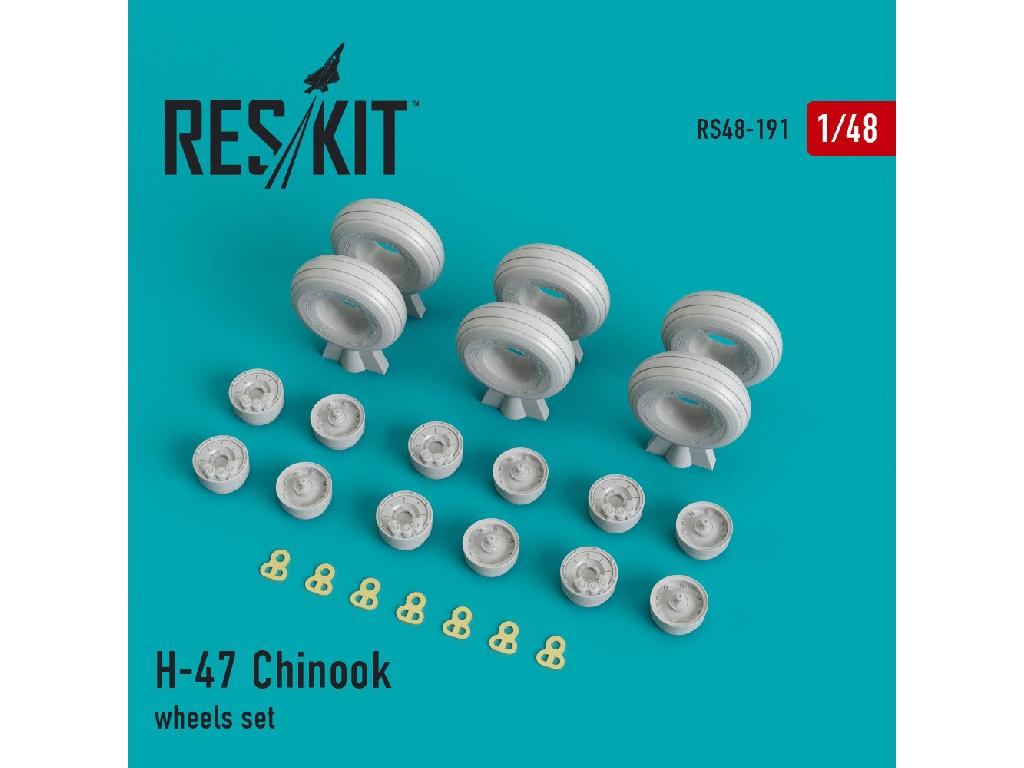1/48 H-47 Chinook wheels set