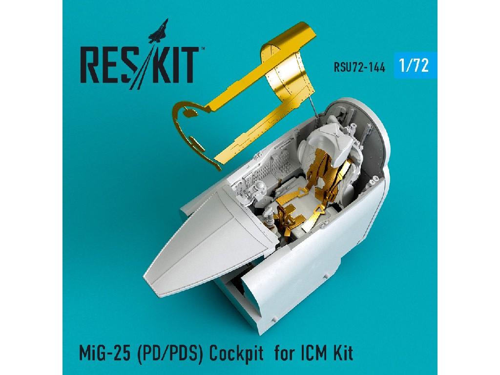 1/72 MiG-25 (PD/PDS) Cockpit for ICM Kit