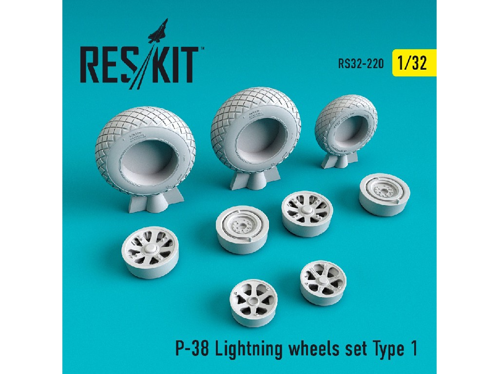 1/32 P-38 Lightning wheels set Type 1