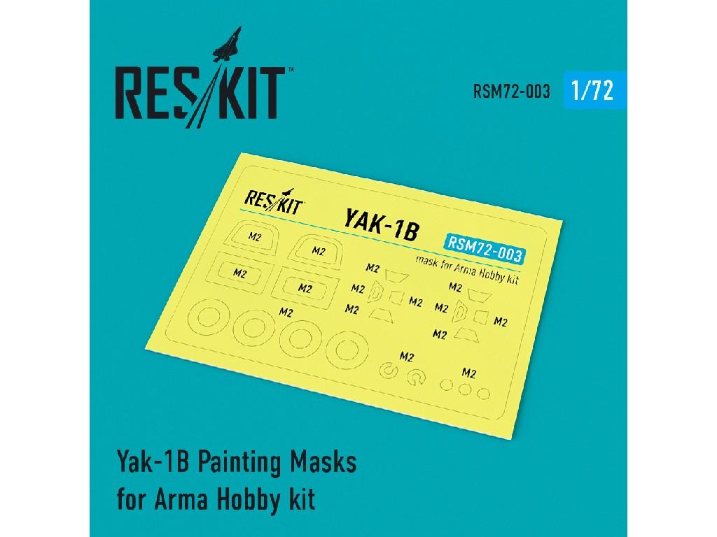 1/72 Yak-1B Painting Masks for Arma Hobby kit