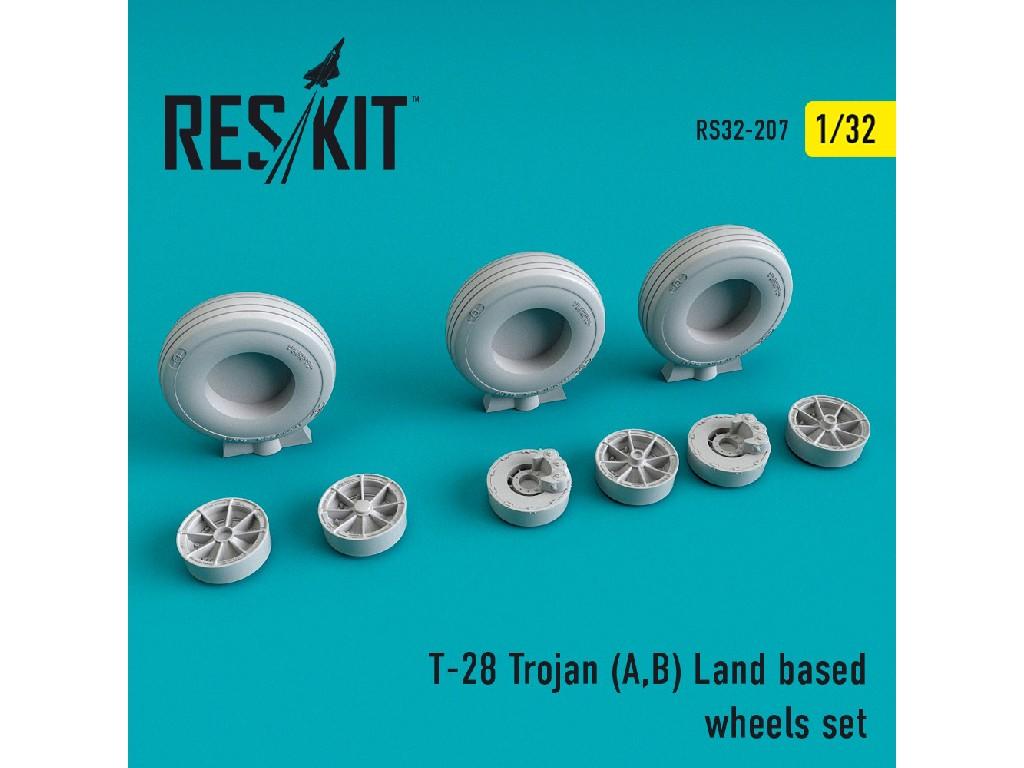 1/32 T-28 Trojan (A,B) Land based wheels set