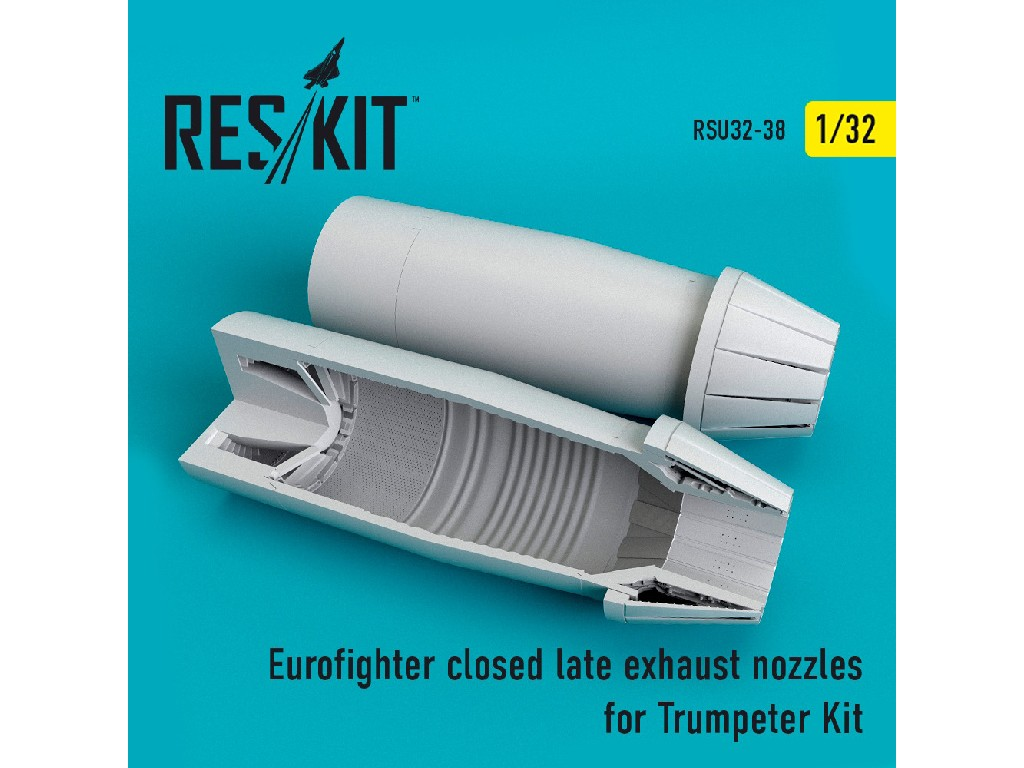 1/32 Eurofighter closed (late type) exhaust nozzles for  Trumpeter Kit