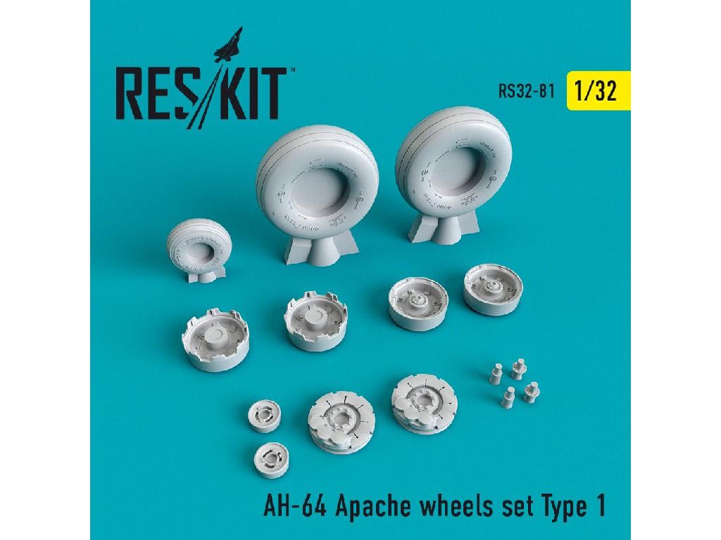 1/32 AH-64 Apache wheels set Type 1