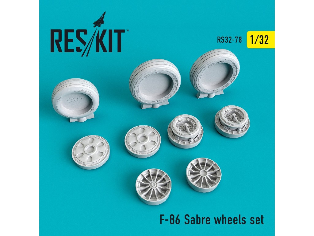 1/32 F-86 Sabre wheels set